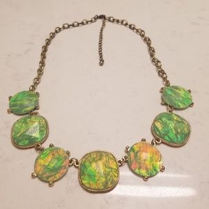 Jewelry - Iridescent Green Statement Necklace Mermaid Shiny